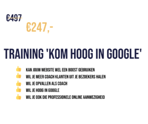 Kom Hoog in Google | SEO training
